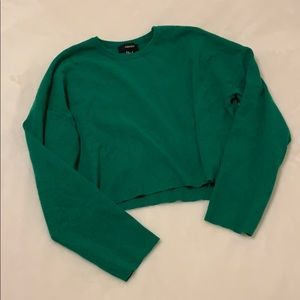 🔺NWOT🔺 Forever 21 Cropped Green Sweater Size L